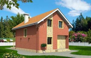 Проект небольшого узкого дома из кирпича Rg1451