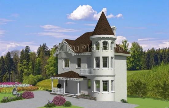 Проект двухэтажного дома с цокольным этажом Rg3927