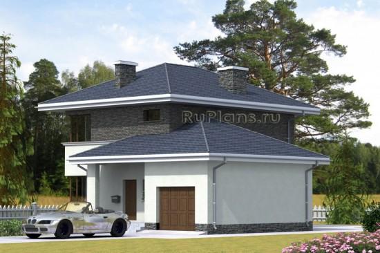 Проект индивидуального  двухэтажного  жилого дома Rg4767