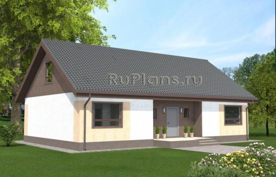 Проект одноэтажного дома с чердаком Rg4873