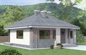 Проект индивидуального одноэтажного жилого дома Rg4793