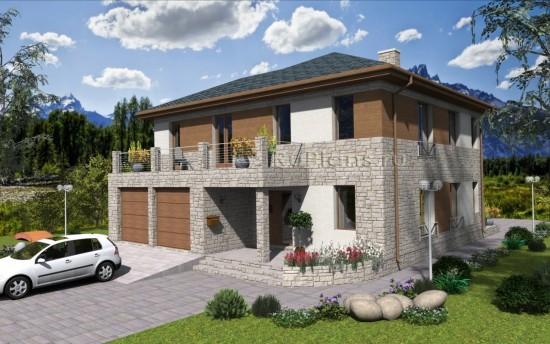Проект индивидуального двухэтажного  жилого дома Rg4769