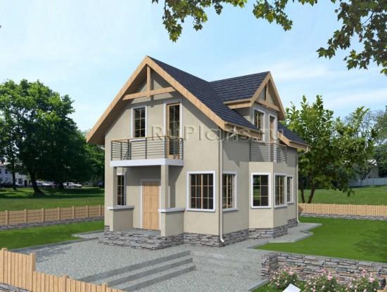Проект дома с мансардой Rg3827