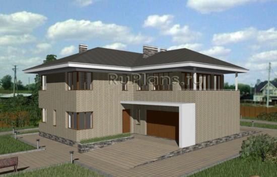 Просторный двухэтажный дом с гаражом Rg3296