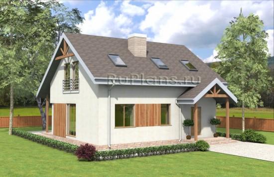 Проект комфортного дома с мансардой Rg3982