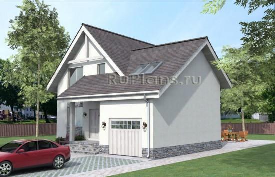Проект уютного дома с мансардой Rg3861