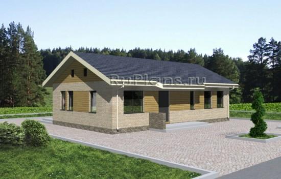 Проект удобного одноэтажного дома Rg3438