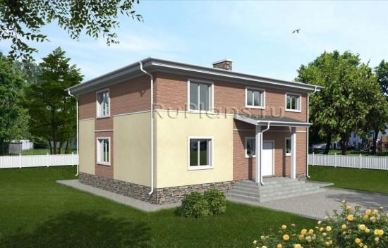 Проект двухэтажного дома с удобной планировкой Rg3867
