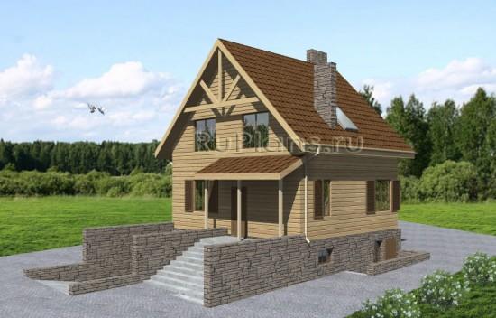 Проект комфортного дома с мансардой Rg3662
