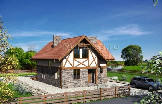 Одноэтажный дом с мансардой Rg3845