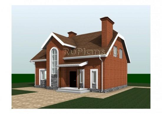 Одноквартирный дом с мансардой Rg3239