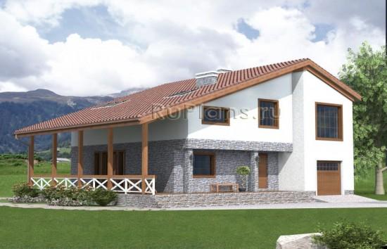 Проект одноэтажного дома с мансардой Rg4840