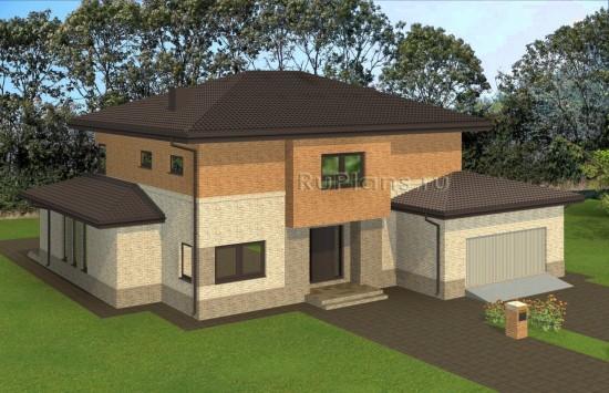 Проект комфортного двухэтажного дома Rg4910