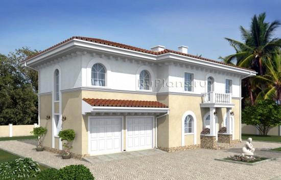 Проект индивидуального двухэтажного жилого дома в средиземноморском стиле Rg4997