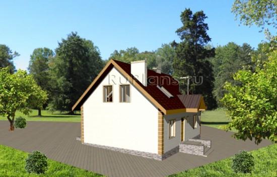 Проект одноэтажного уютного коттеджа Rg3573