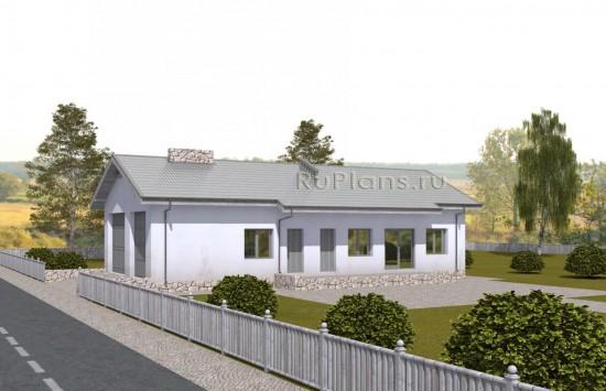 Проект скромного одноэтажного дома для персонала. Rg5051