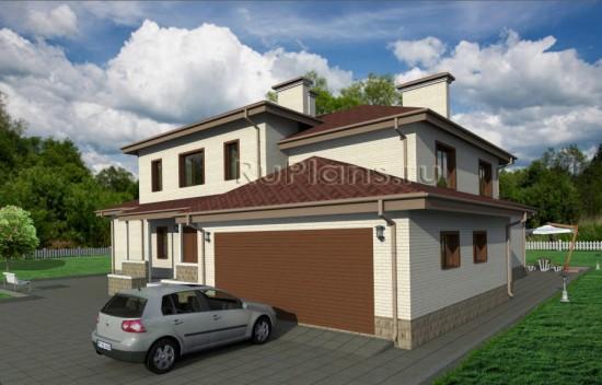 Проект двухэтажного коттеджа Rg3783