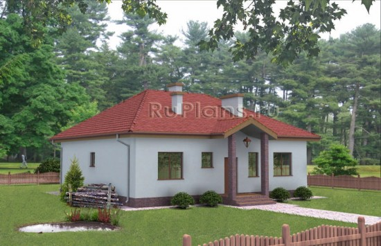 Одноэтажный дом с тремя спальнями Rg3221