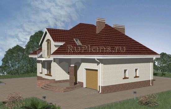 Оригинальный одноэтажный дом с мансардой и гаражом Rg3329