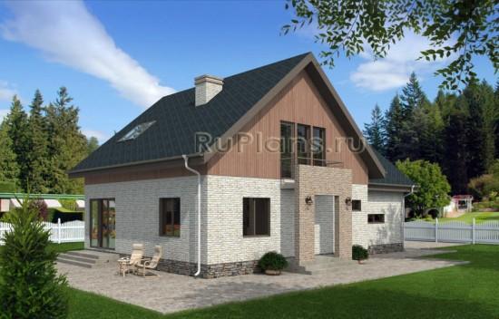 Проект одноэтажного жилого дома с мансардой Rg4797