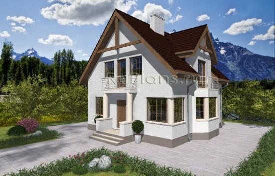Одноэтажный дом с мансардой Rg3921