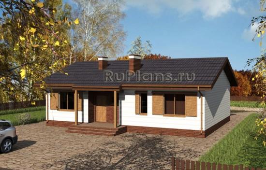 Одноэтажный уютный коттедж Rg3843