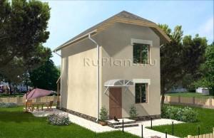 Уютный двухэтажный дом Rg3810