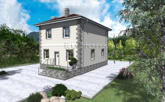 Проект одноэтажного дома с мансардой Rg3871