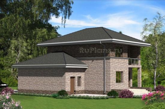Проект индивидуального двухэтажного  жилого дома Rg4749
