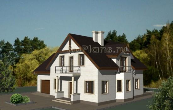 Жилой дом с вместительным гаражом Rg3452