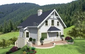 Одноэтажный дом с мансардой Rg4011