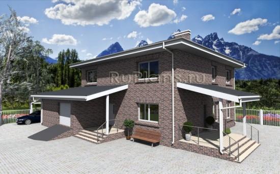 Проект жилого дома с сауной и гаражом Rg3872