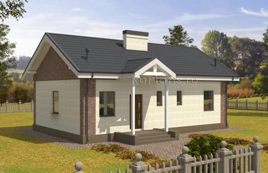 Проект надежного одноэтажного дома. Rg5043