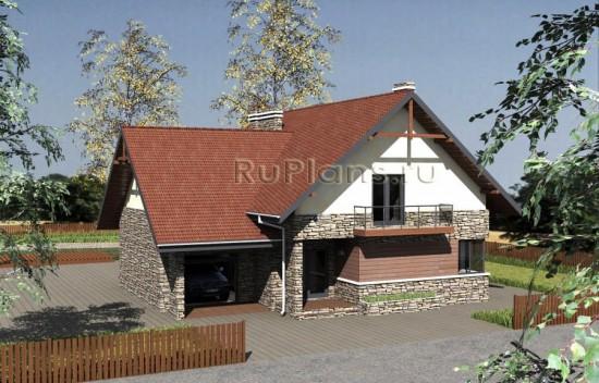 Проект комфортного дома с мансардой Rg3844
