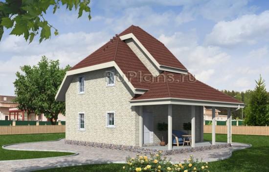 Проект загородного коттеджа с мансардой Rg4031