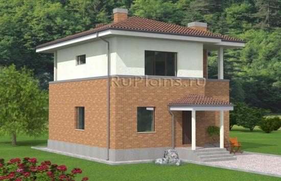 Проект двухэтажного дома с большой гостиной Rg4874