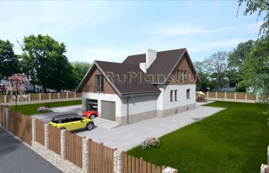 Проект дома с мансардой и террасой Rg3799