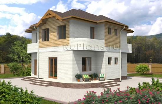 Проект двухэтажного дома с террасой Rg3456