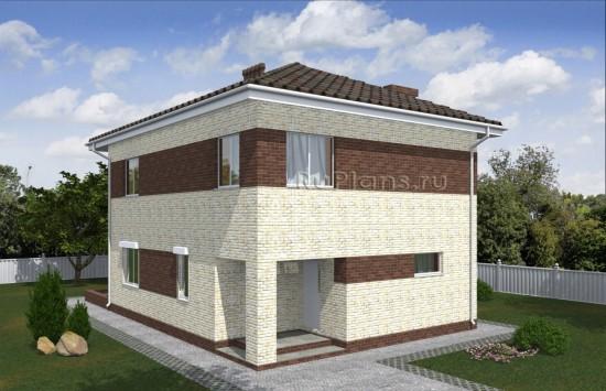 Проект компактного двухэтажного дома с террасой Rg5029