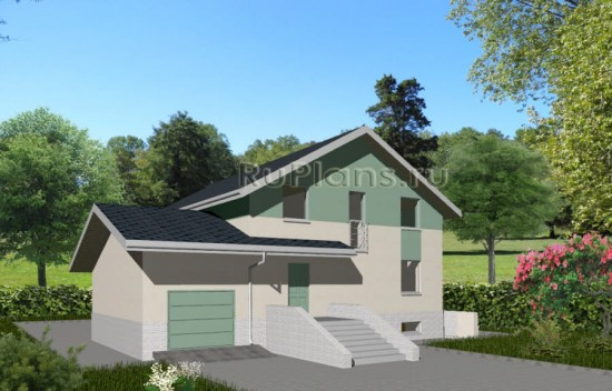 Проект дома с подвалом и мансардой Rg3560