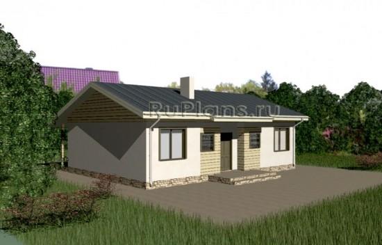 Проект одноэтажного дома для узкого участка Rg3349