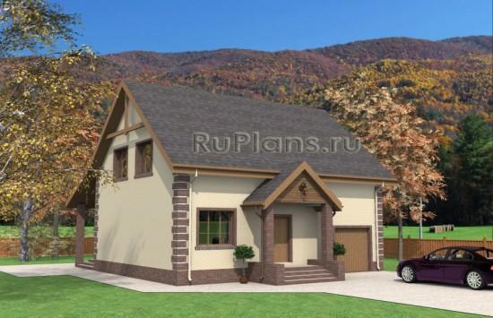 Проект дома с мансардой Rg3933