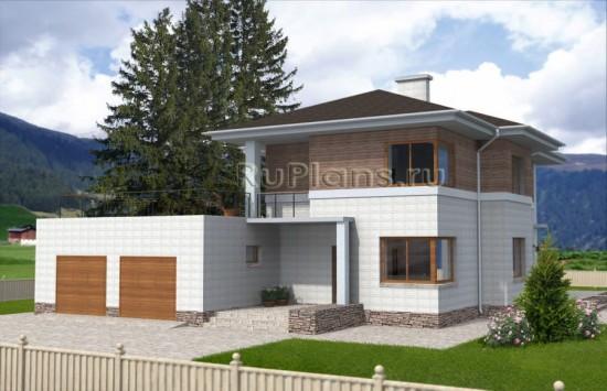 Двухэтажный дом с террасой и гаражом Rg3800