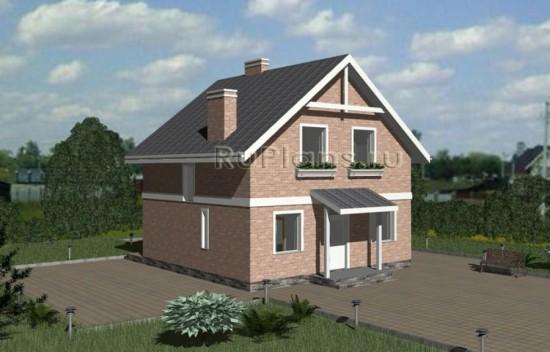 Одноэтажный дом с мансардой и эркером Rg3322