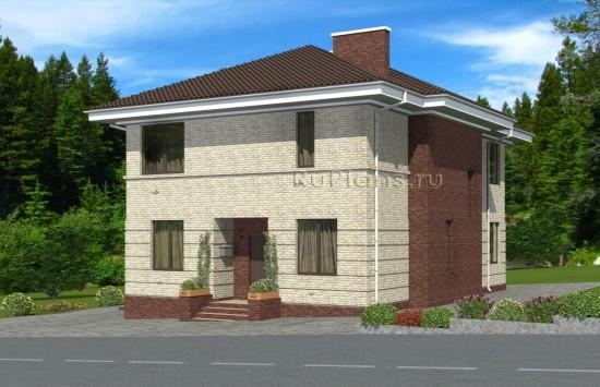 Проект двухэтажного дома с террасой Rg4948