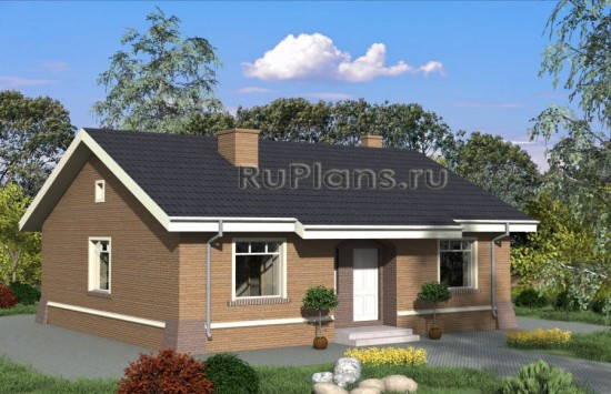 Проект одноэтажного дома Rg4853