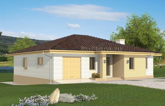 Проект одноэтажного дома на склоне Rg4901