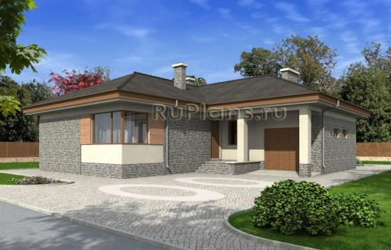 Проект одноэтажного дома с гаражом Rg4847
