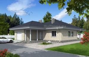 Проект индивидуального одноэтажного жилого дома Rg4774