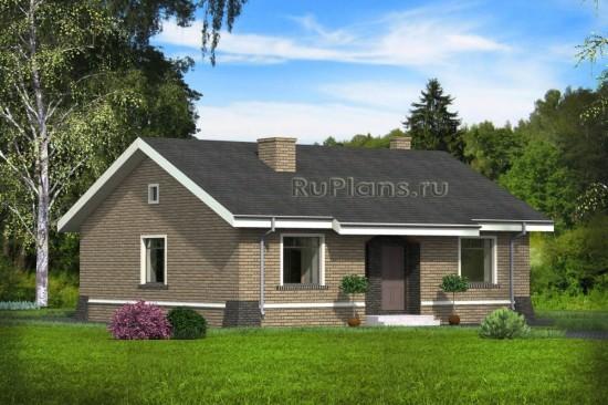 Проект индивидуального одноэтажного  жилого дома Rg4747